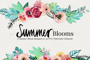 Summer Blooms Watercolors