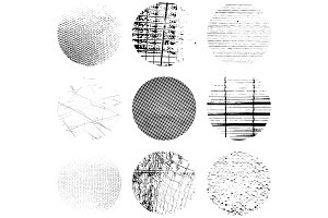 Circular Grunge Texture Set