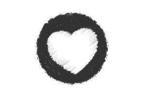Bold Stamp Heart Grunge Texture