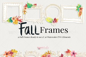 Fall Frames Watercolors