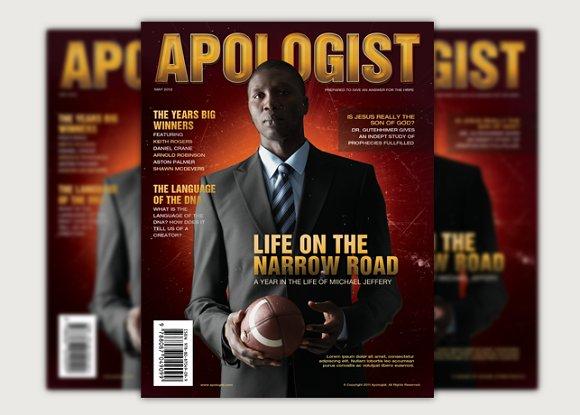 Apologist church magazine cover magazine templates creative market apologist church magazine cover magazines maxwellsz