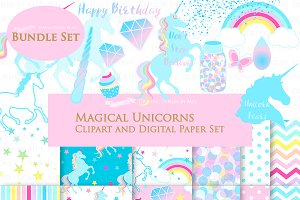 Magical Unicorns, Einhorn, Blue