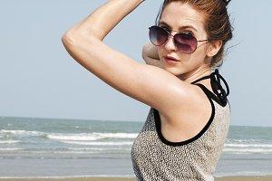 Girl on summer beach