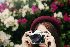 Girl Camera Photographer Focus