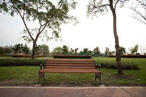 Chair in the garden.