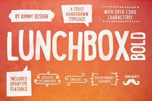 LUNCHBOX Bold + Webfonts
