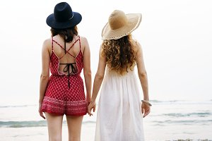 Girls Beach Summer Holiday Vacation
