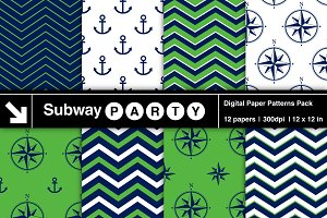 Nautical Navy & Green Papers v2