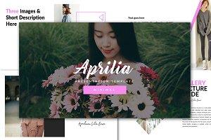 Aprilia Minimal Keynote Template