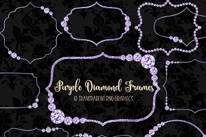 Purple Diamond Frames Clipart