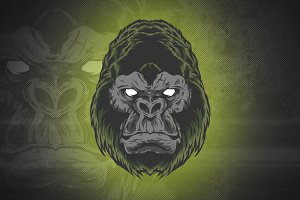 KINGKONG HEAD VECTOR ILLUSTRATION