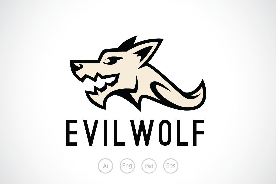 evil wolf logo template logo templates creative market
