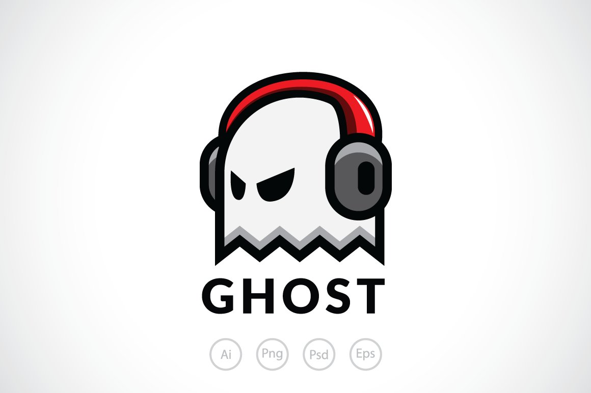 ghost player logo template ~ logo templates ~ creative market
