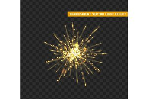 Firework gold isolated.