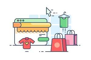 Online shopping flat