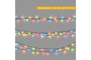 Xmas colorful garlands