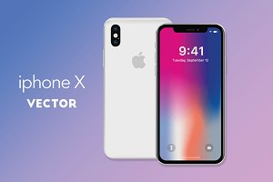 iphone x vector (ai)
