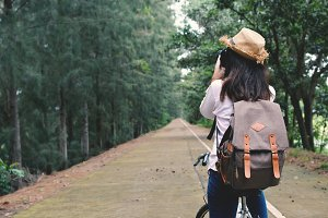 women backpacker