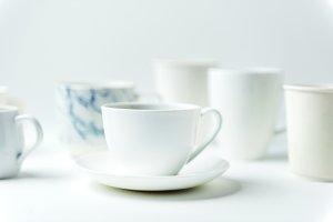 Closeup of coffee cups