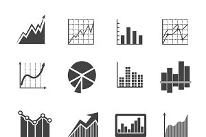Business data analytics icons