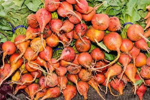 Fresh orange beets