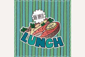 Food poster with Lunch