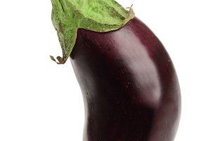 Eggplant or aubergine vegetable isolated on white background