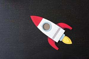 Rocket spaceship paper craft