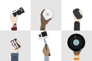 Collection of technology vectors