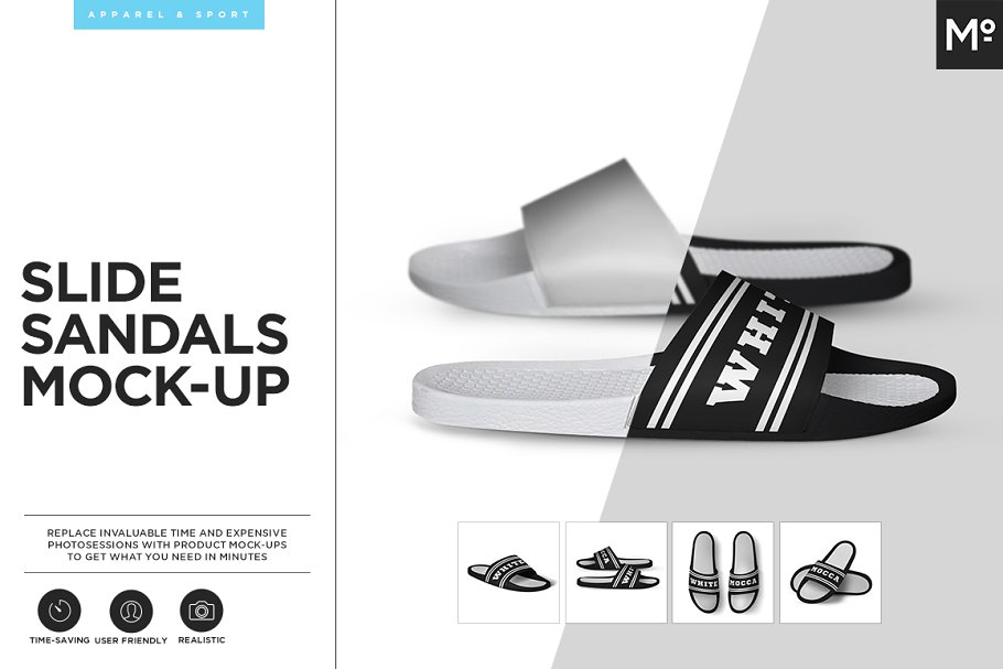 f40bc438667a6 Slide Sandals Mock-up ~ Product Mockups ~ Creative Market