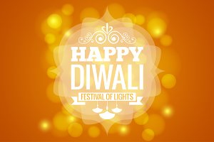 Diwali lights logo design