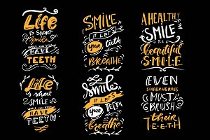 Dental care quotes. Banners