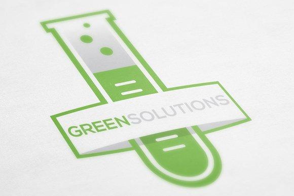 green solutions logo template logo templates creative market. Black Bedroom Furniture Sets. Home Design Ideas