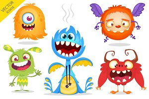 Cartoon monsters set for Halloween