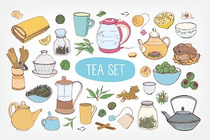 Bundle accessories for tea drinking