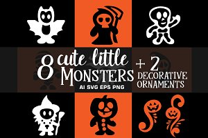 Cute Monsters Halloween Bundle Pack
