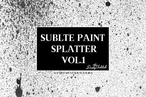 Subtle Paint Splatter Vol. 1