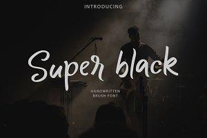Super black | Bursh Font