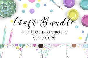 Craft Supplies Stock Photo Bundle