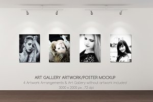 Art Gallery Artwork/Poster mockup