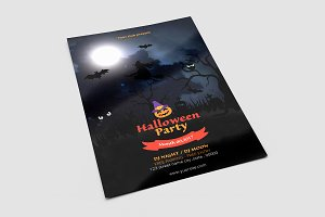 Halloween Party Flyer Template-V631