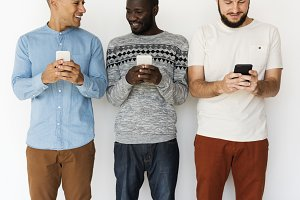 Diversity Group Use Mobile Phone