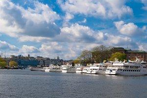 Malaren and white yachts