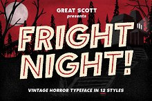 Fright Night! A vintage horror font