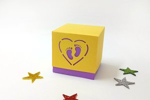 DIY Baby shower favor -3d papercraft