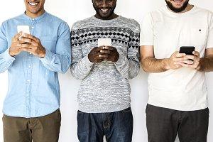 Men Using Phones