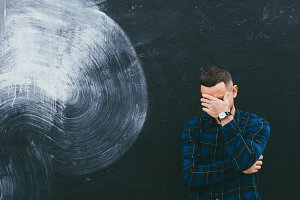 Creative Mural and Shy Man