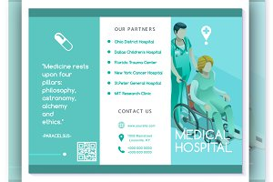 Vector Brochure Healthcare Turquoise
