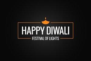 Diwali festival logo
