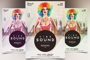 Vibe Sound - PSD Flyer Template
